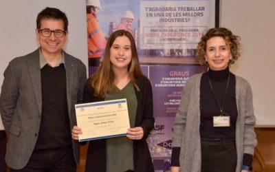 La estudiante Àngela Gómez gana el Premio Work Experience Essity – ETSEQ 2020