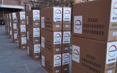 Covestro dona gafas de policarbonato y termómetros a hospitales de Wuhan y alrededores para afrontar el coronavirus