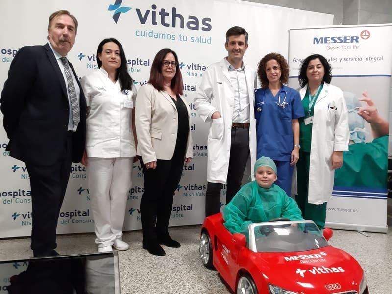 Un coche teledirigido trasportará a los niños al quirófano en el Hospital Vithas Valencia 9 de Octubre