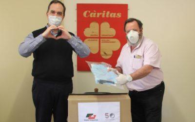 Vopak Terquimsa dona 220 pantallas protectoras a Cáritas Diocesana de Tarragona