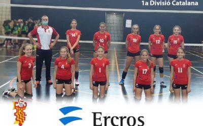 Ercros patrocina el equipo infantil femenino del  Club de Voleibol Sant Pere i Sant Pau