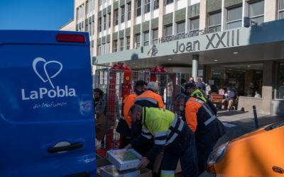 Dow y la Pobla de Mafumet renuevan su compromiso solidario con los niños ingresados en el Hospital Joan XXIII de Tarragona